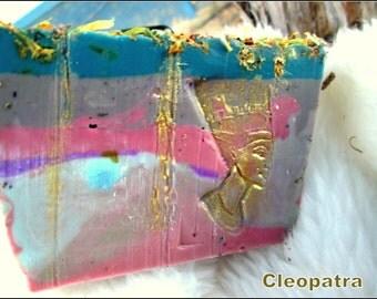 Goddess Soap~Pagan Queen~Cleopatra Soap~Artisan Women's Soap~Beautiful Women's Soap~Pagan Gifts~Pagan Soap~Isis Soap~Gold Soap~Unique Soap