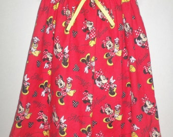 Short sleeve Minnie Mouse Girls Christmas Mickey Red Bow Night Gown PJs Pajamas Boutique Slumber Birthday Party Flannel Nightgown!