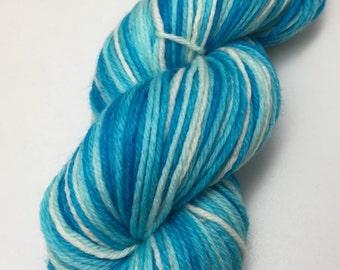 Hand dyed superwash merino DK yarn - Lush Blue