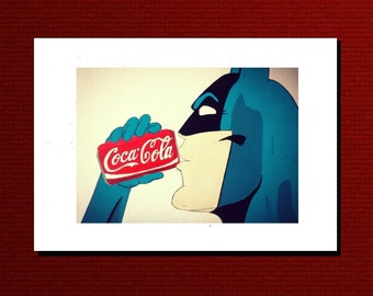 Batman Coca-cola Greetings card/Art print