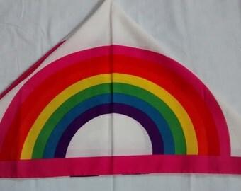 Rainbow pride vintage silk neckerchief
