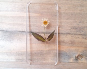 iPhone5 case, real pressed flower phone case, floral hard case, unique phone case