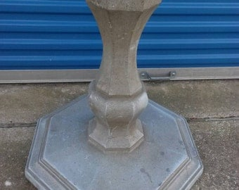Vintage Outdoor Cast Aluminum Bistro Table Base Industrial Look