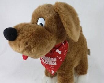 Vintage kibbles n bits advertising stuffed animal dog food toy