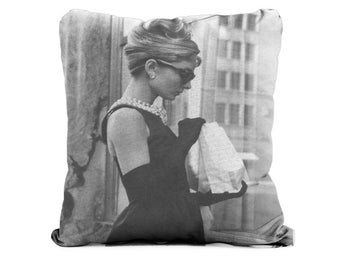 Audrey Hepburn Breakfast at Tiffany's - Cushion Case Covers, New Cotton Textile