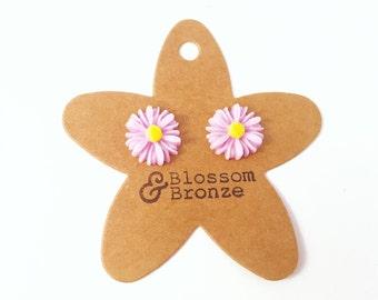 Lilac Daisy Studs | Studded Earrings