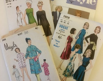 Vintage sewing patterns: Vogue, Butterick, Style, Weigel's