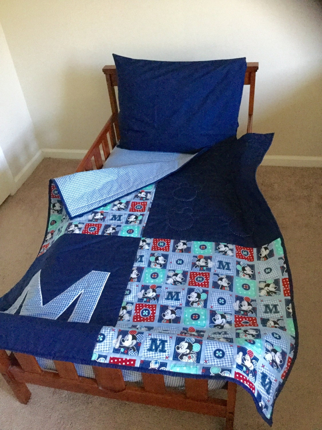 Disney Mickey Mouse Toddler Bedding by cuddlycotton on Etsy