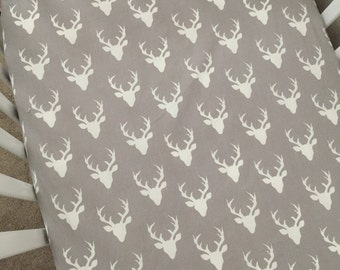 Crib Sheets - Grey with Deer