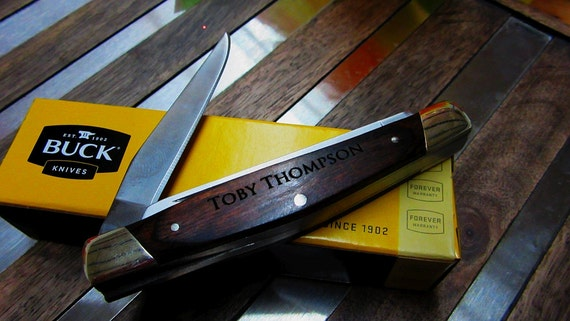 Buck Knives Wedding Gift : Groomsman Gift Knife, Groomsmen Gift Knife, Personalized Buck Knife ...