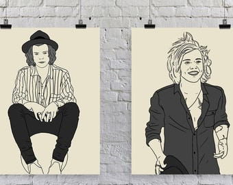 Ball Harry - Harry Styles - One Direction Print - Illustration
