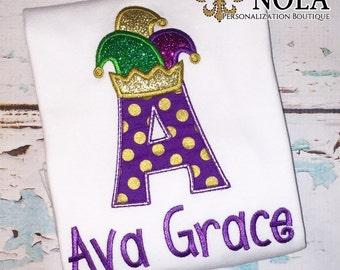 Mardi Gras Jester Hat Alpha Shirt, Bodysuit or Gown