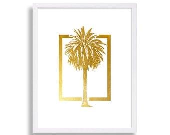 World Map Print Faux Gold Art Print Modern Decor Globe Poster