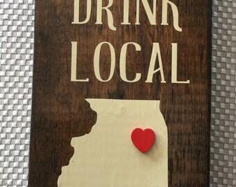 Drink Local Bottle Opener, Beer Opener