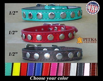 Cute Dog Collars - Fancy dog Collars - Unique Dog Collars - Extra Small Dog Collars - Studded Small Dog Collars - FREE Shipping in USA