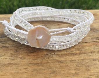 Clear Shimmer Wrap Bracelet