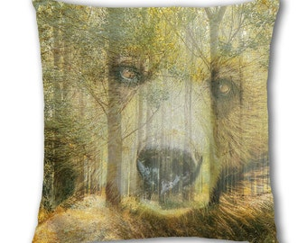 Bear Woods Design Cushion Cover (C770)