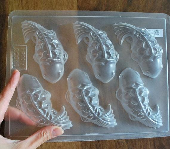 Silicone soap mold koi fish mold plastic fish mold 6 for Koi fish mold