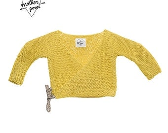"""Yellow cotton wrap """"BICOTIN"""" jacket"""