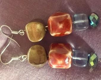 Cubic facet earrings