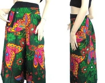 Women pants Multicolor wide leg pants ...PDK0135