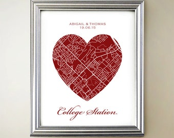 College Station Heart Map