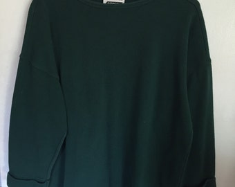LA Gold 90s hunter green over sized top Size L