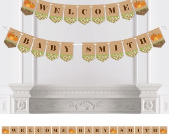 Pumpkin Patch - Bunting Banner - Personalized Fall or Halloween Baby Shower or Birthday Party Decorations