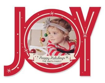 Oh Joy! Holiday Card with JOY - Photo Christmas Cards - Set of 50