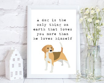 Beagle gifts, Beagle Art, Beagle print, Beagle lovers gift,  beagle art print, Hunting dog print, Beagle Wall art, Dog Lover Gift