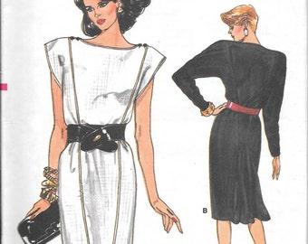 Vintage 1980s Vogue Sewing Pattern 9597 - Misses' Dress size 8-10-12 uncut
