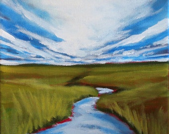 SALE: Salt Marsh, Original Painting
