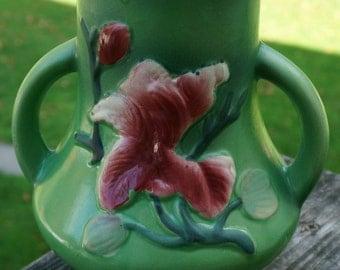Beautiful Asian Floral Lotus Flower Vase