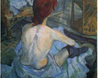 "Tribute to Toulouse Lautrec ""LA ROUSSE"""