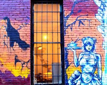 Revolver Single Window Graffiti photograph taken near Gastown, Vancouver Canada