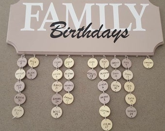 Family birthday sticker kit
