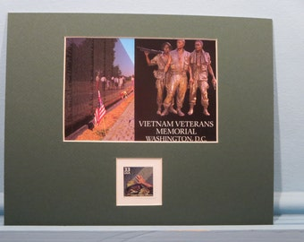 Honoring the Dedication of the Vietnam Veterans Memorial honored by the Vietnam Veterans' Memorial stamp
