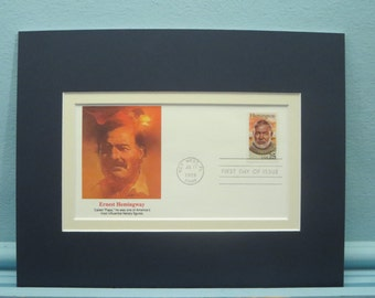 Famed Author Ernest Hemingway honored by the First day Cover of his own stamp