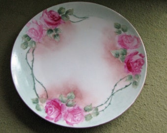Antique Bavaria China J & C Plate Jaeger and Co. Hand Painted Decorative Plates