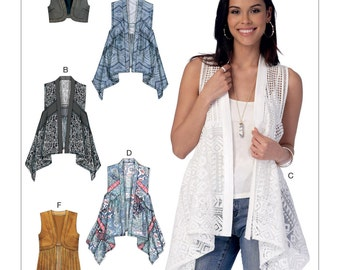 McCalls Sewing Pattern M7416 Misses' Seam-Detail or Cropped Vests