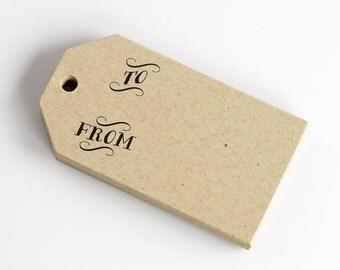 Christmas Tags, 24 Gift Tags, Birthday Gift Tags, Kraft Gift Tags (MLT-303-KR)