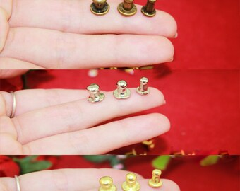 "10  Nipple Knobs – Alloy Lamp Nail Pulls Bureau Jewelry Box Button Head Cabinet Single Hole - 0.24""/0.2""/0.16"" (6mm/5mm/4mm) - k147"