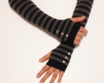 Cotton Long Fingerless Arm Warmer