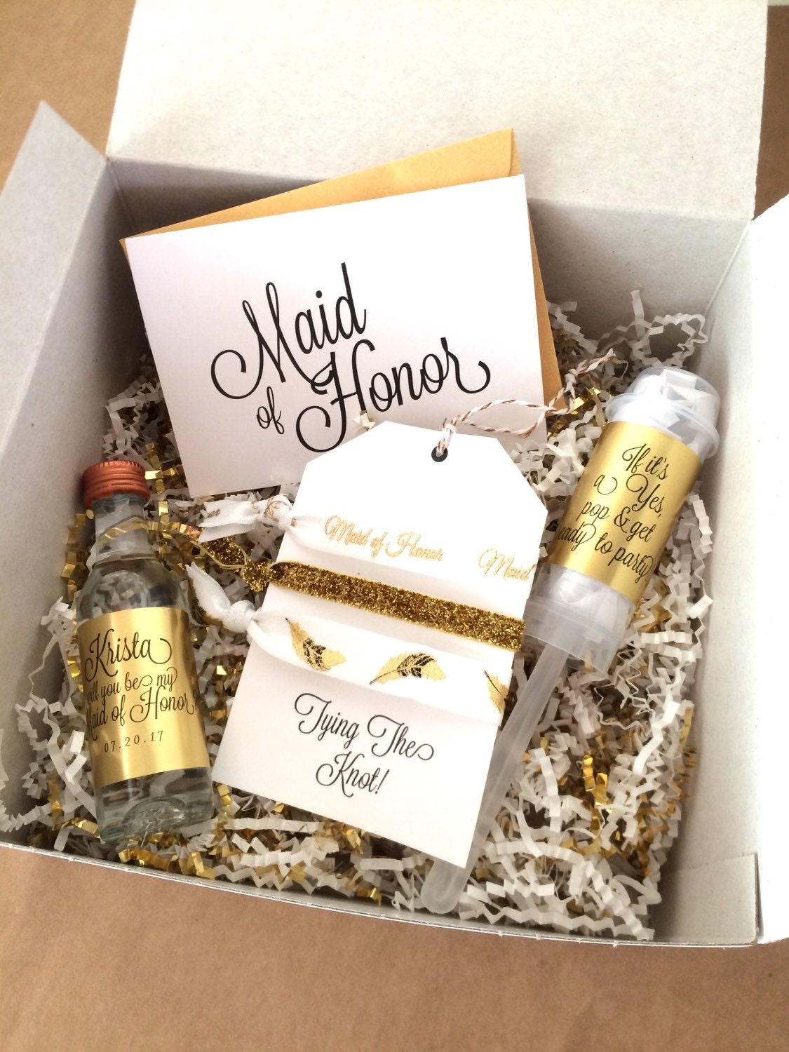 Personalized bridesmaid gift box sets will you be my maid of for Gifts for bridesmaids from bride