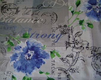 Spring Paris Post Fabric sold by the yard