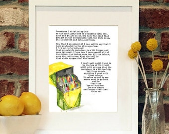 Crayons -8x10 matted print