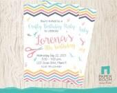 Crafty Birthday Invitation - Craft Birthday Invitation - Girl Birthday Invitation - Girl Theme Invitation - Printable Invitation - Digital