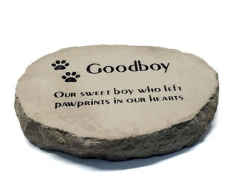 Personalized Pet Memorial Garden Stone Thick Heavy Duty stone Not created from plastic resin