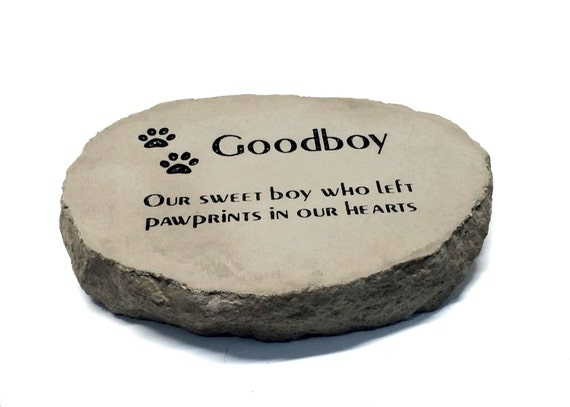 Personalized Pet Memorial Garden Stone Thick Heavy Duty Stone