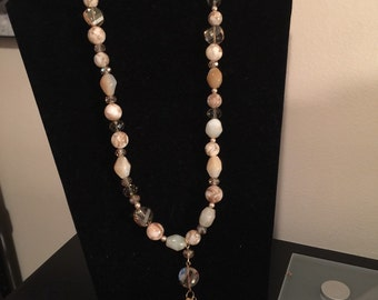 One Of Kind Beaded Necklace with Tassel